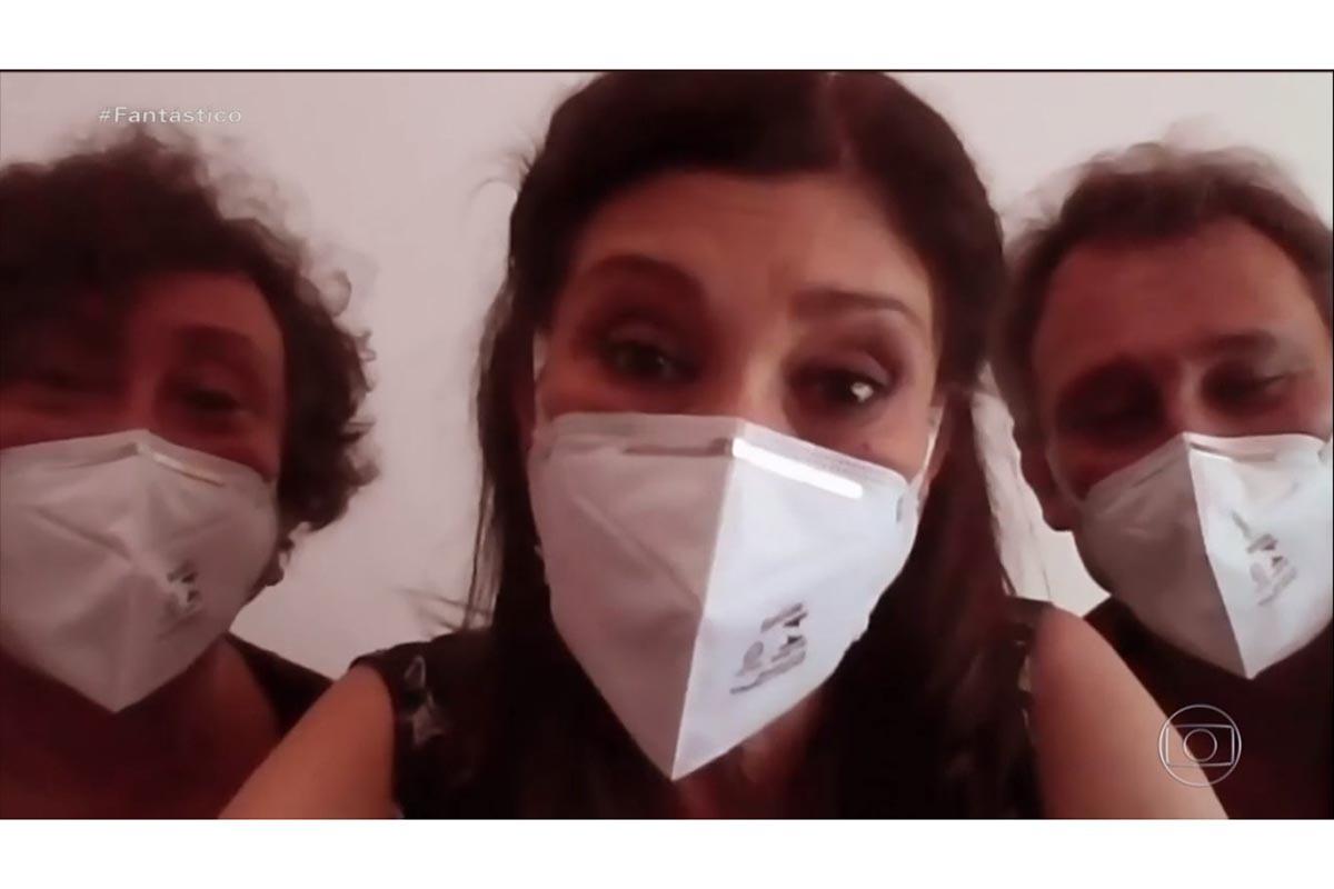 Bárbara Bruno, Beth Goulart e Paulo Goulart Filho