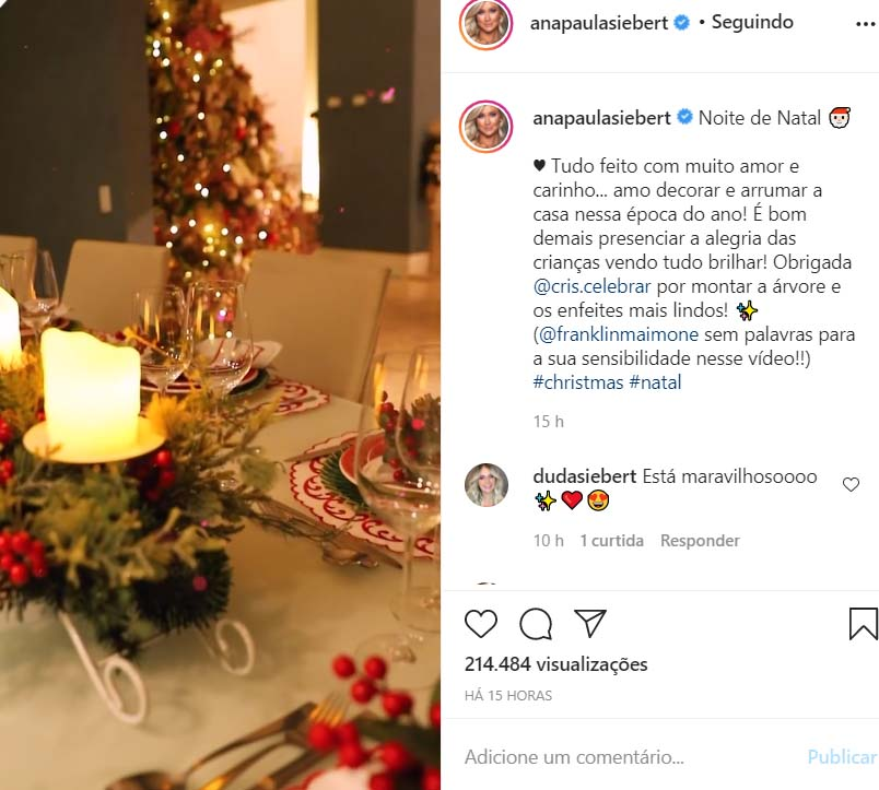 Ana Paula Siebert mostra decoração de Natal
