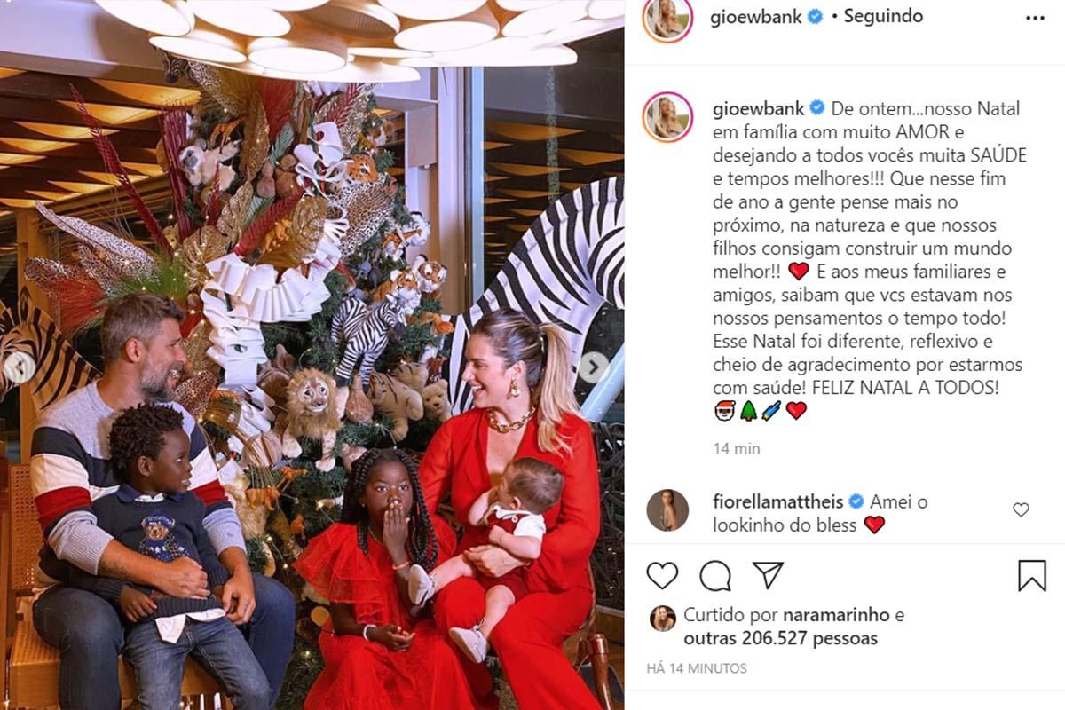 Giovanna Ewbank e sua família