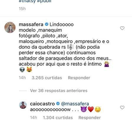 Grazi Massafera faz vários elogios para o namorado em post nas redes sociais