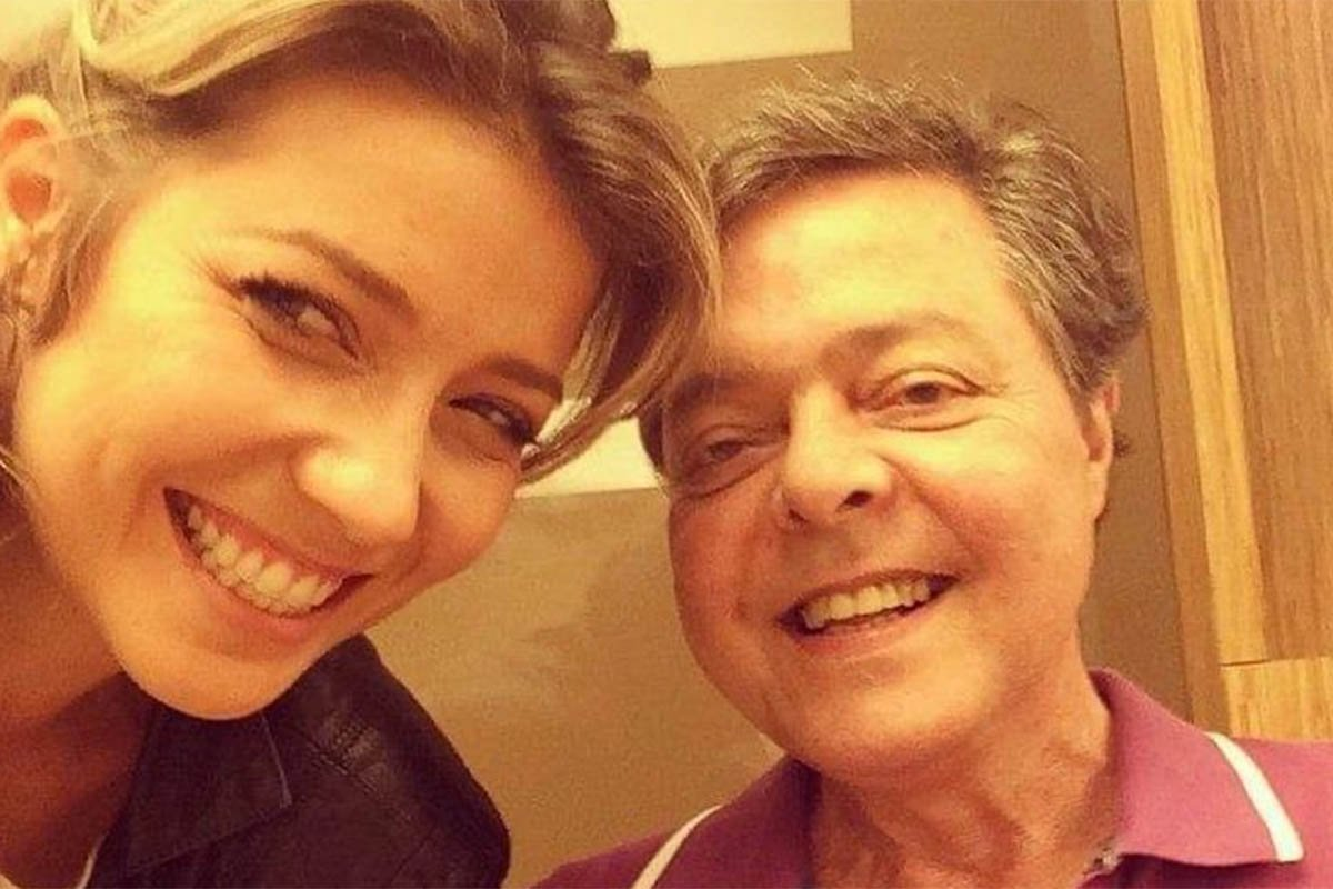 Luiza Possi e o pai