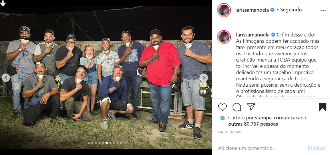 Larissa Manoela em novo filme da Netflix