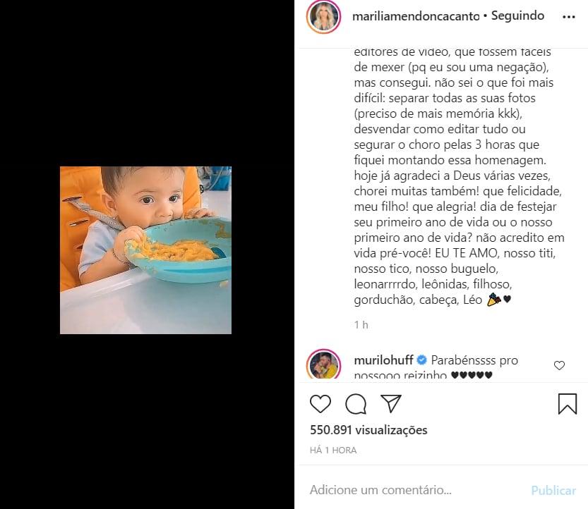 Marília Mendonça celebra o aniversário do filho