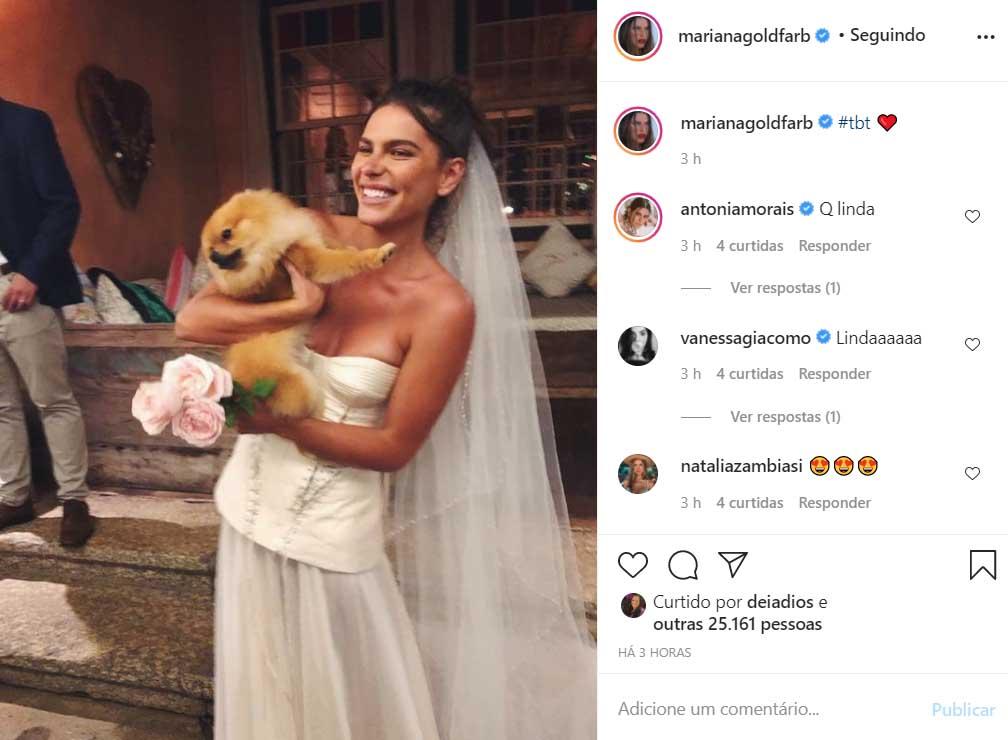 Mariana Goldfarb relembra o seu casamento