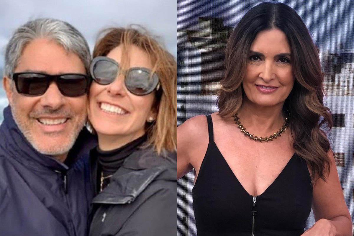 William Bonner, Natasha Dantas e Fátima Bernardes