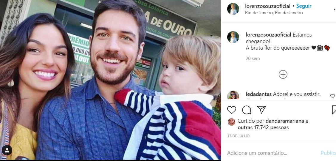Ator mirim Lorenzo Souza, que fez o Ruyzinho em A Força do Querer