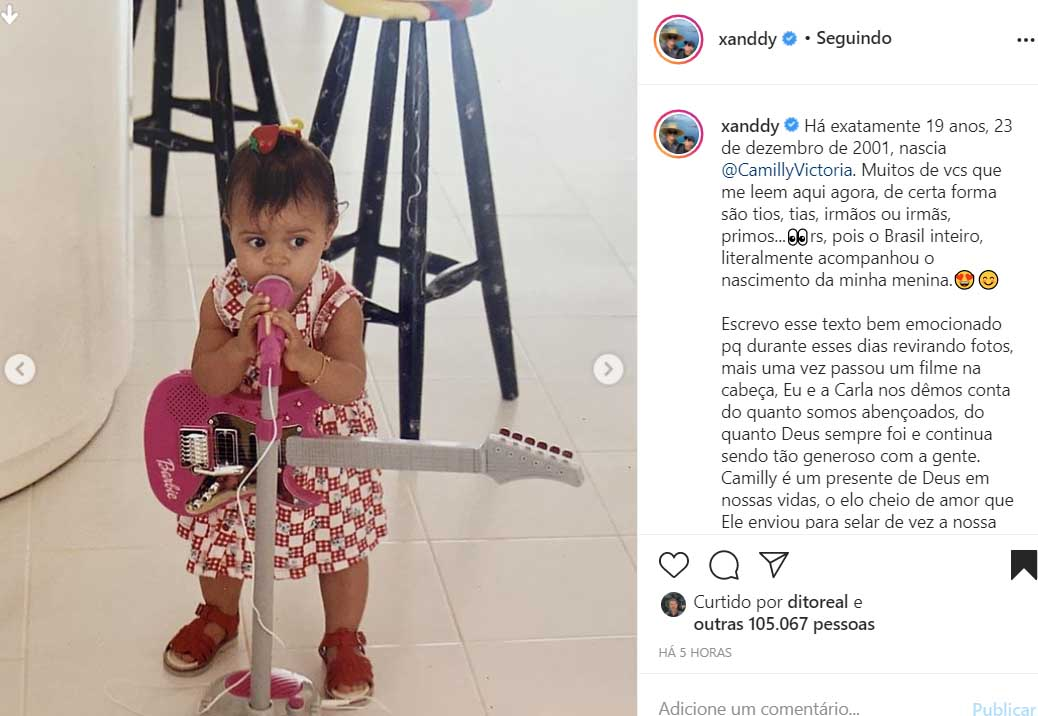Xanddy comemora o aniversário da filha
