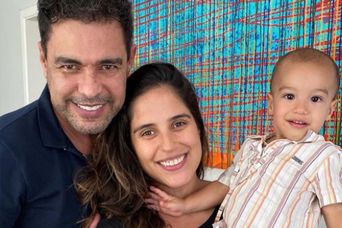 Zezé Di Camargo antecipa o Natal com os filhos