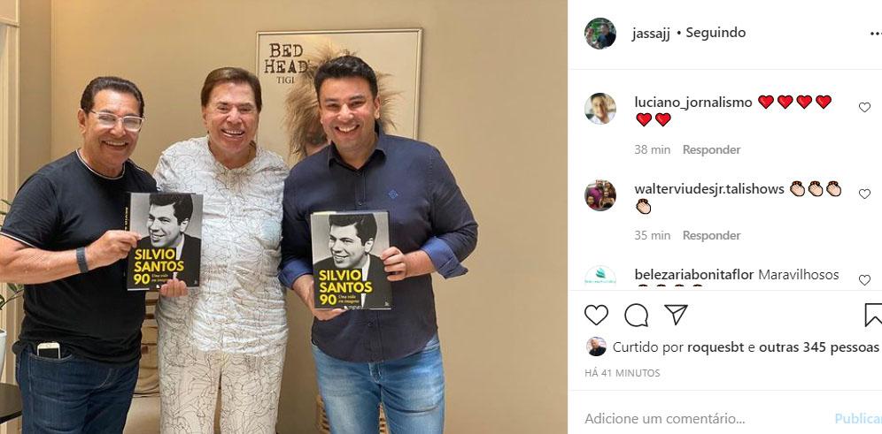 Silvio Santos no salão de Jassa