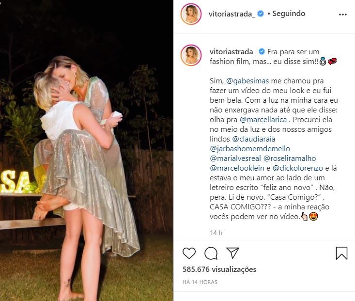 Vitória Strada e Marcella Rica
