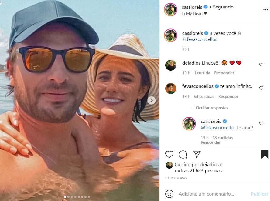 Cássio Reis e Fernanda Vasconcellos