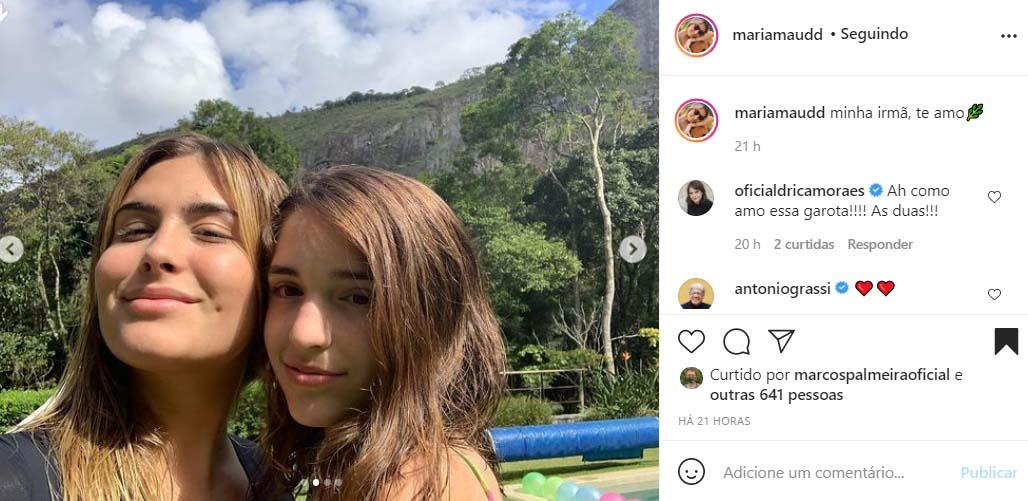 Maria Maud e Felipa, filhas de Claudia Abreu