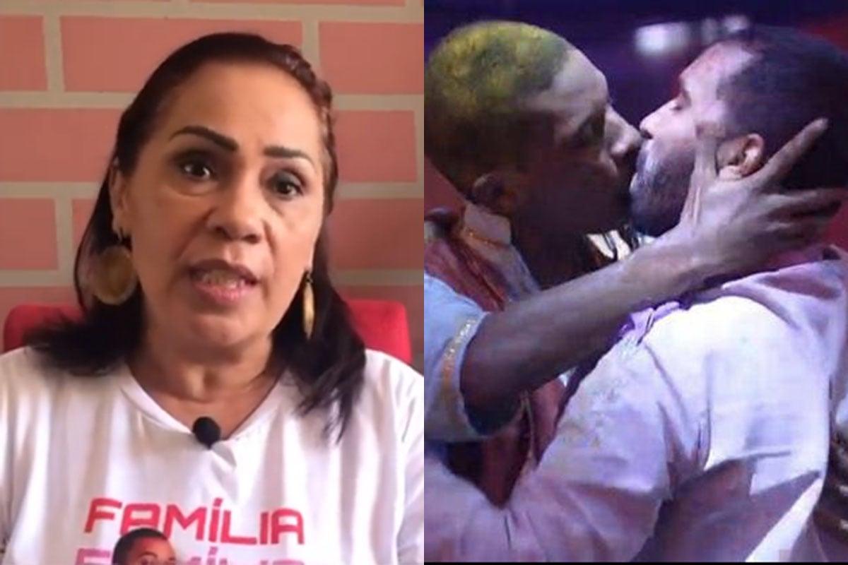Mãe de Gilberto fala sobre pedido de desculpas do filho após beijo em Lucas