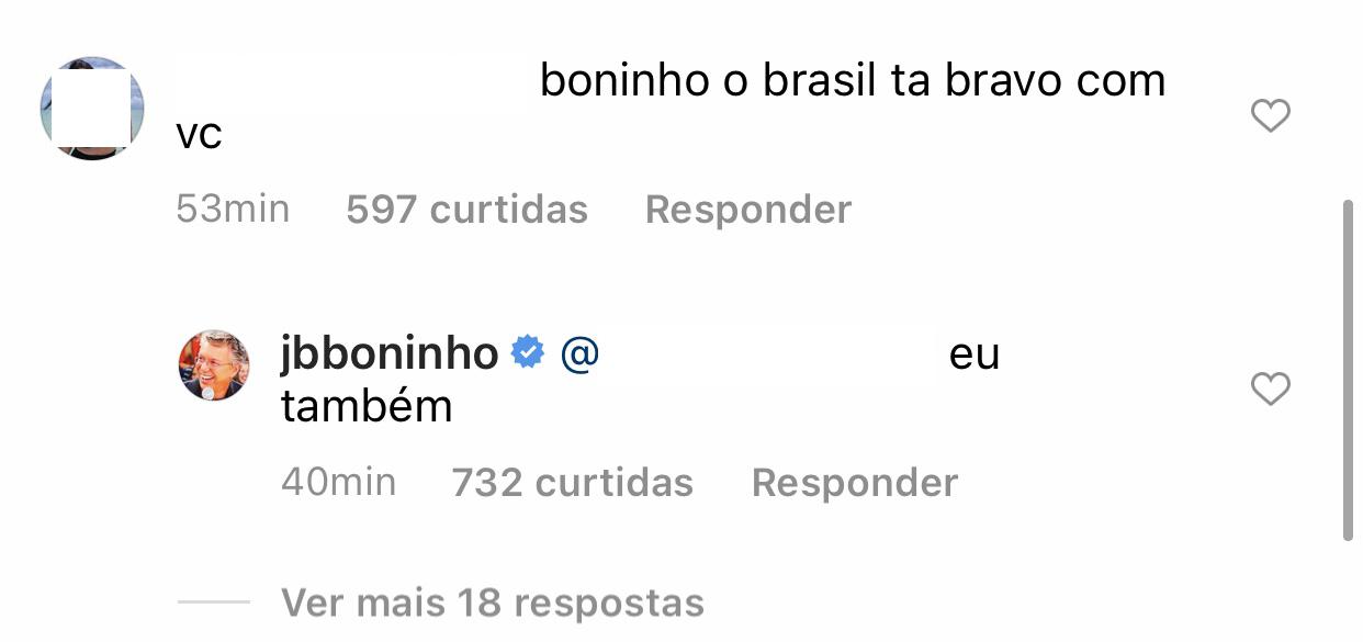 Boninho responde fãs