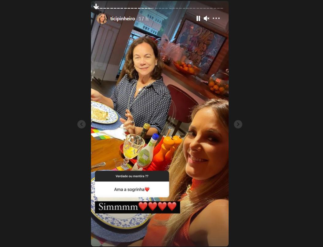 Ticiane Pinheiro e a sogra