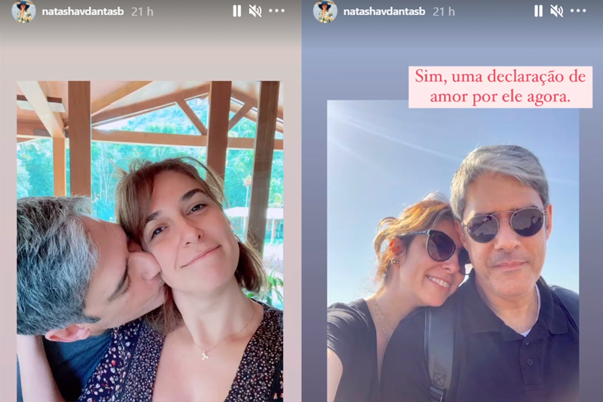 William Bonner e a esposa, Natasha Dantas