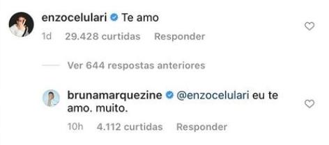 Bruna Marquezine responde comentário de Enzo Celulari