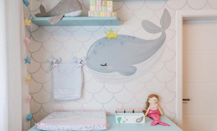 Decoração do quarto da filha da atriz Camilla Camargo