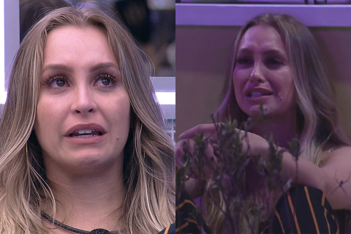 Carla Diaz chora na festa do BBB21