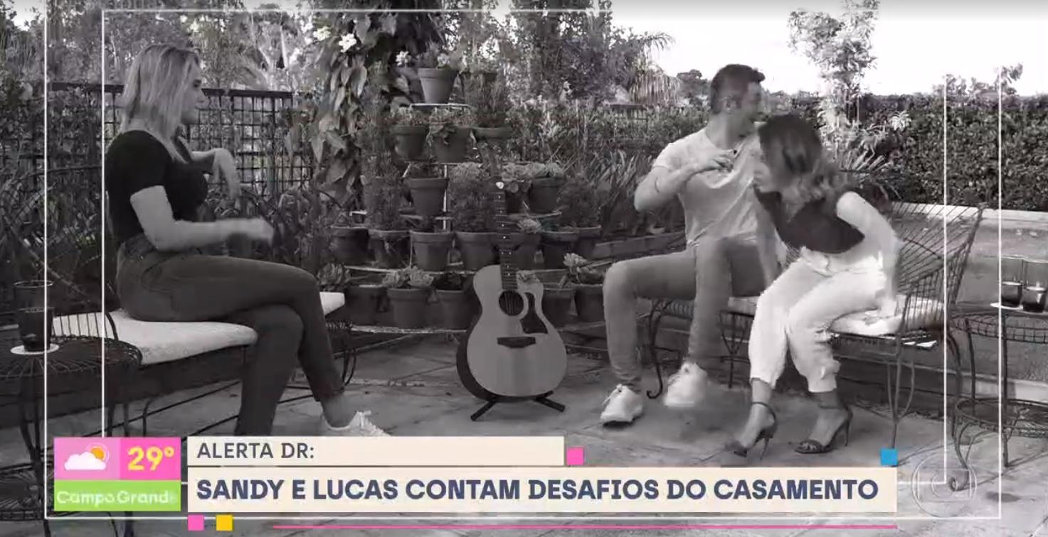 Fernanda Gentil entrevista Sandy e Lucas Lima no Se Joga