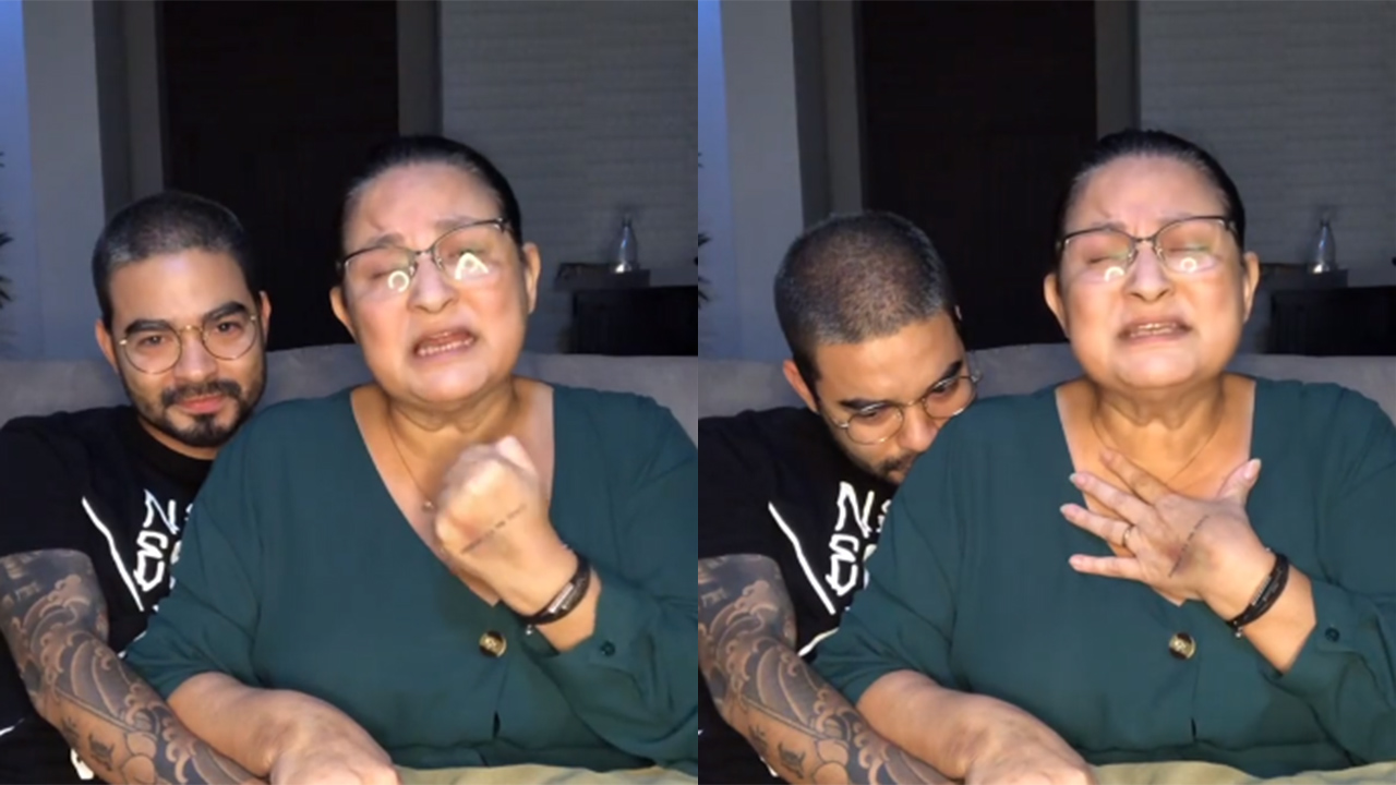 Yudi Tamashiro e sua mãe, Tânia, festejam a cura da Covid-19