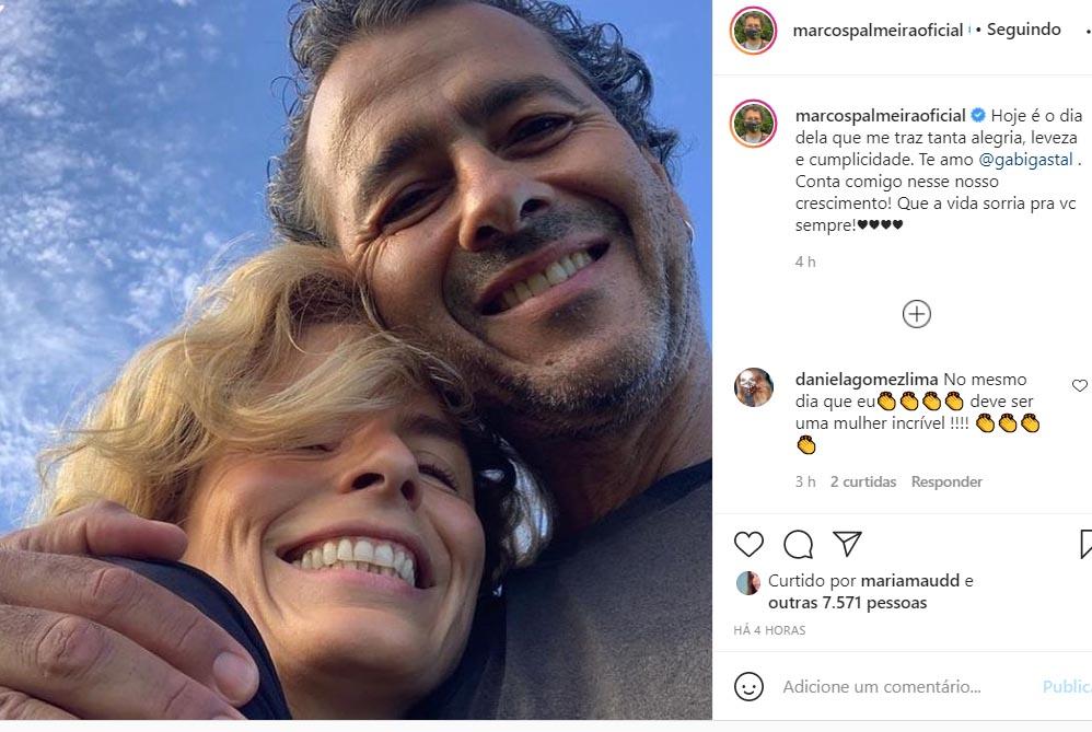 Marcos Palmeira e a esposa, Gabriela Gastal