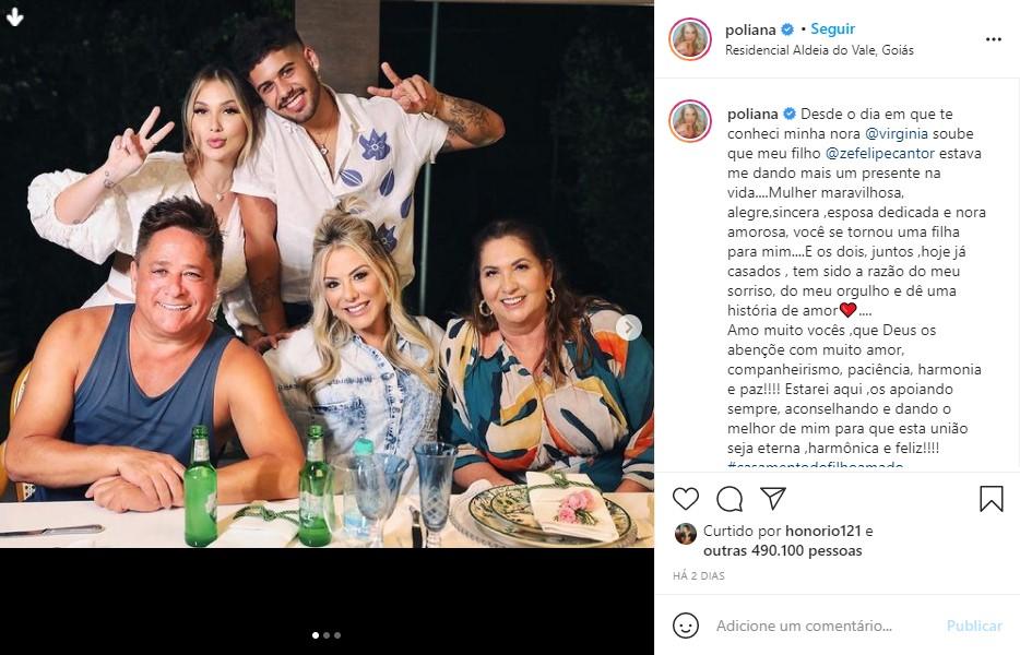 Família de Leonardo se reúne no casamento de Virginia Fonseca e Zé Felipe