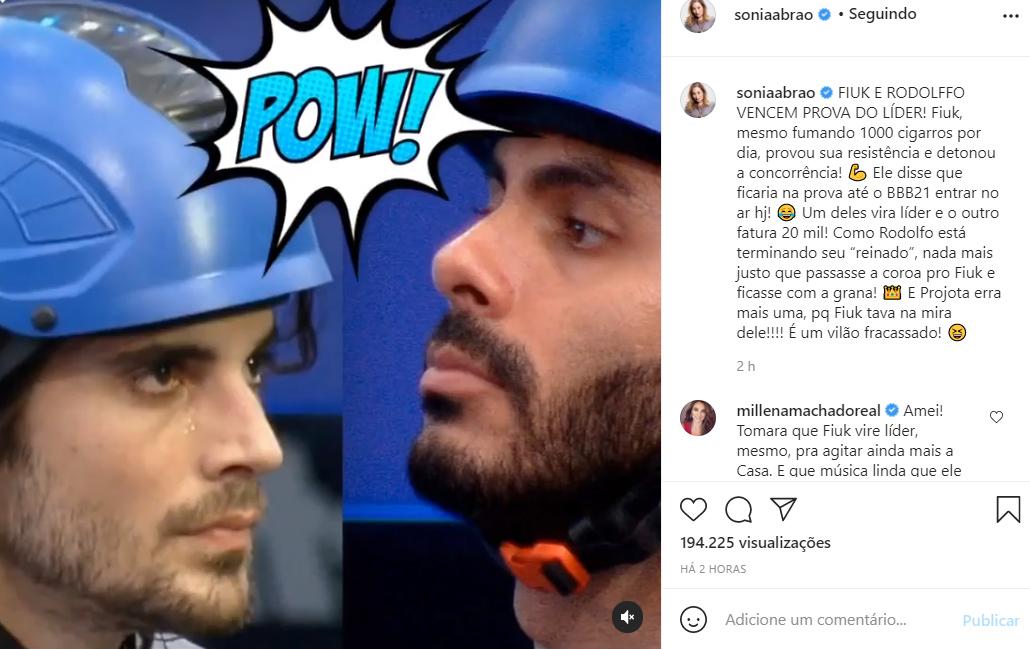 Sonia Abrão detona Projota