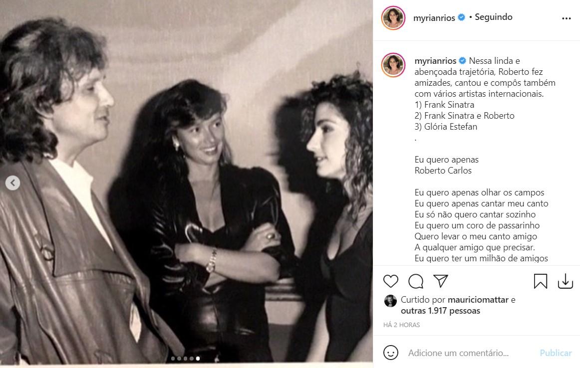 Myrian Rios homenageia Roberto Carlos - Reprodução - Instagram