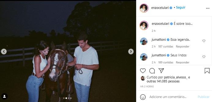 Bruna Marquezine aparece em novas fotos com Enzo Celulari