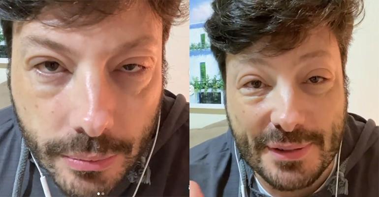 Danilo Gentili aparece com o rosto deformado
