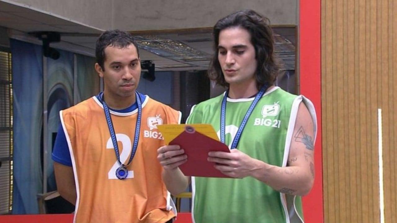 Fiuk e Gilberto ganham Prova do Anjo e anunciam escolha do Monstro