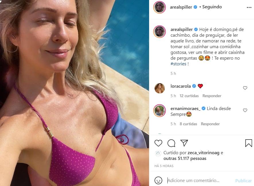 Leticia Spiller mostra foto de biquíni - Crédito: Reprodução / Instagram