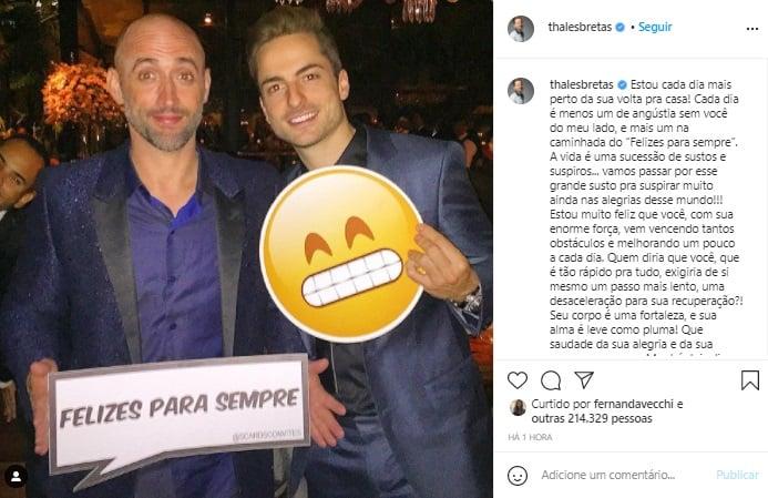 Marido de Paulo Gustavo celebra recuperação do ator