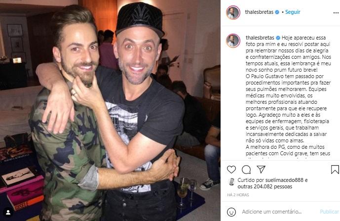 Marido de Paulo Gustavo desabafa sobre estado de saúde do ator