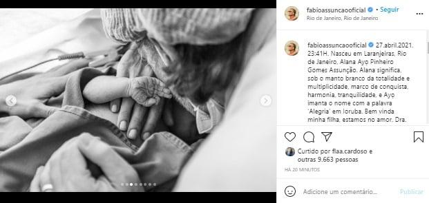 Nasce Alana, filha de Fábio Assunção e Ana Verena
