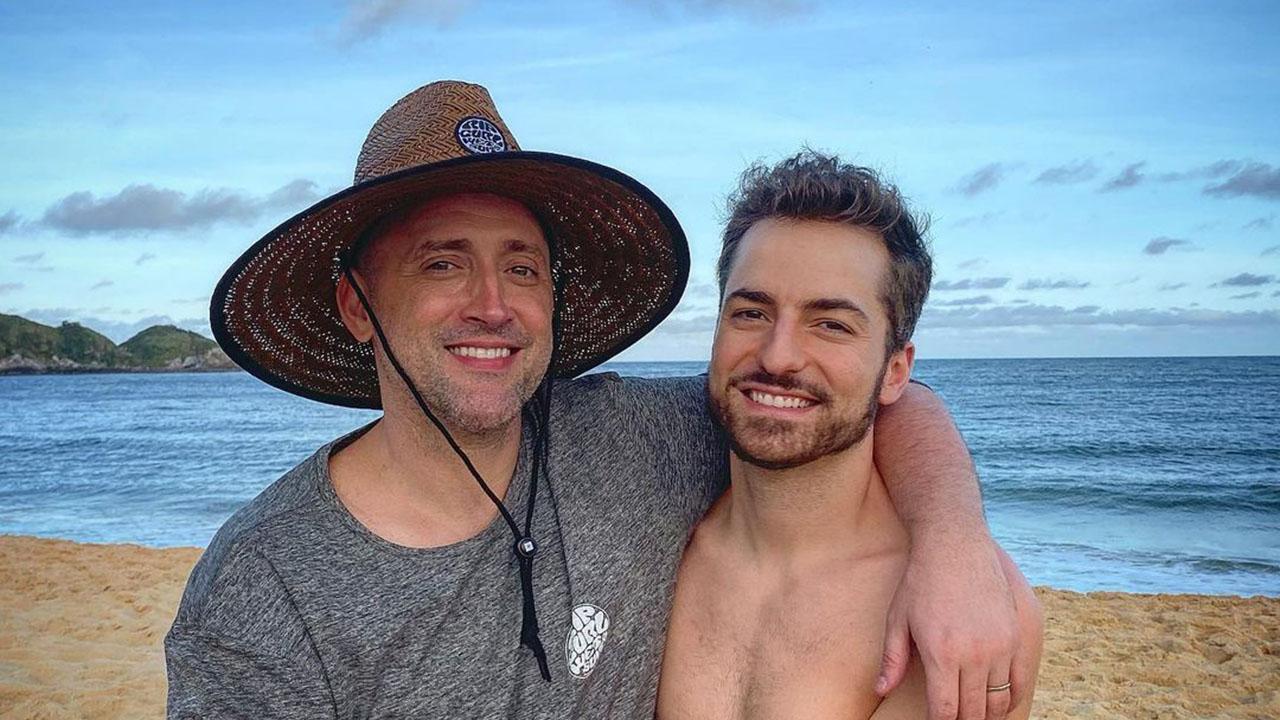 Paulo Gustavo e o marido, Thales Bretas