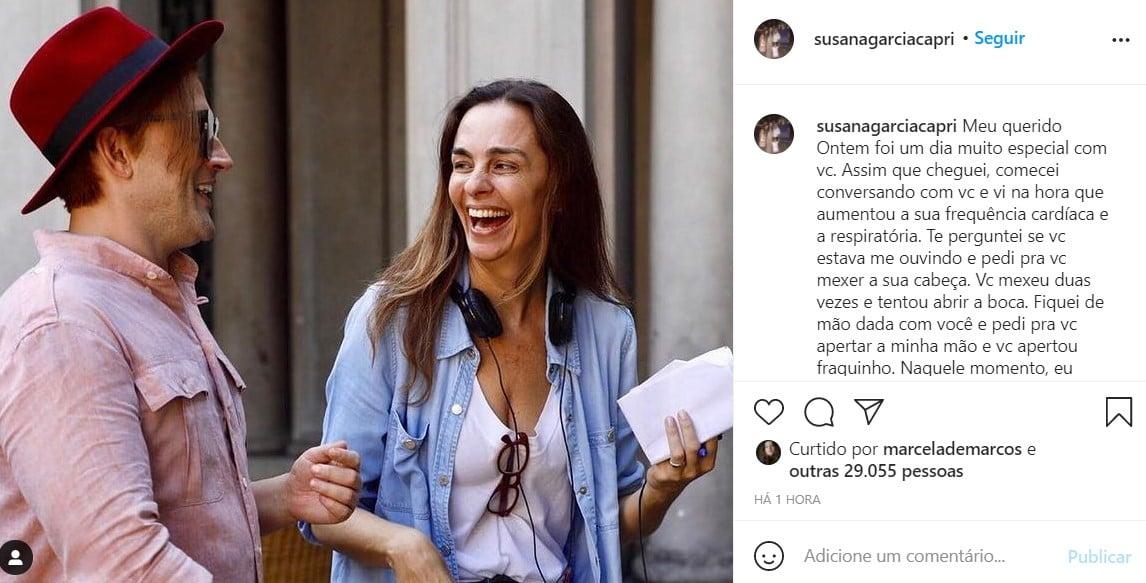 Susana Garcia e Paulo Gustavo - reprodução - instagram