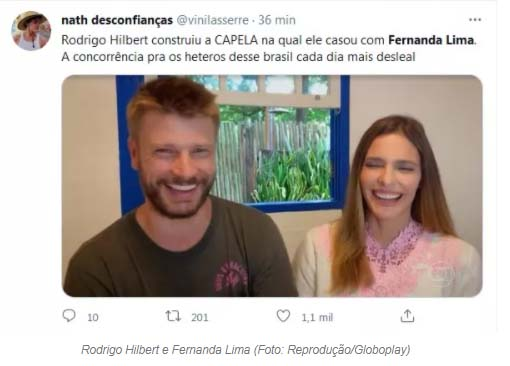 Rodrigo Hilbert viraliza ao revelar que construiu uma capela - Crédito: Reprodução / Twitter