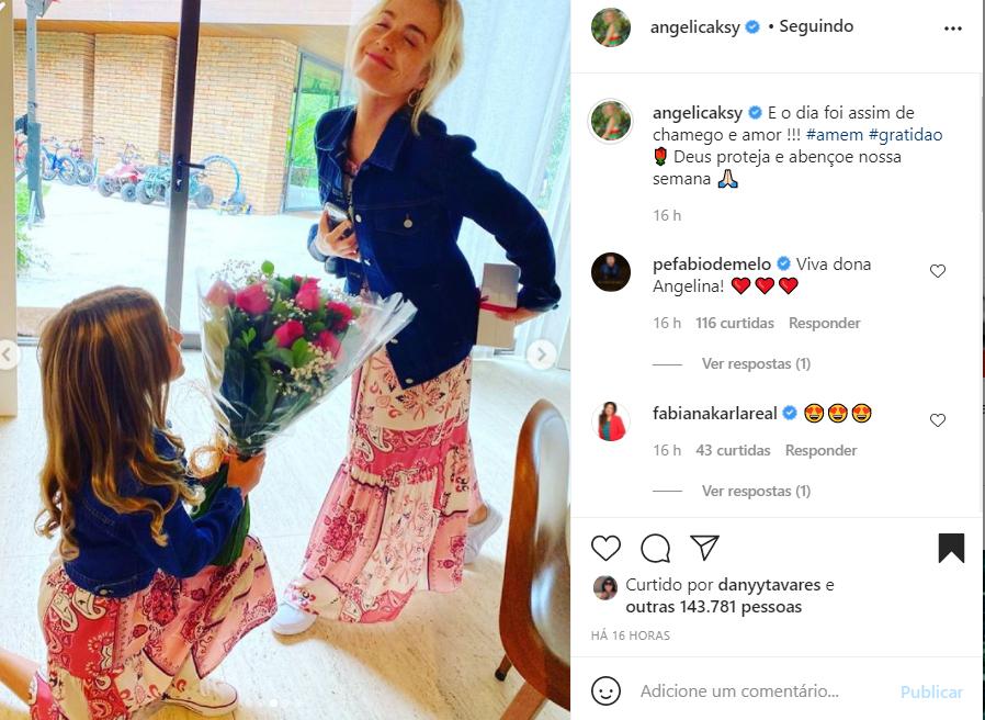 Angélica e a filha, Eva - Crédito: Reprodução / Instagram