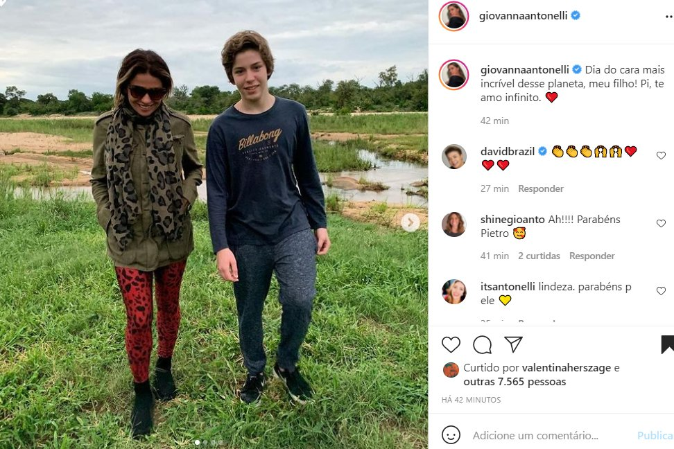 Giovanna Antonelli e o filho, Pietro - Crédito: Reprodução / Instagram