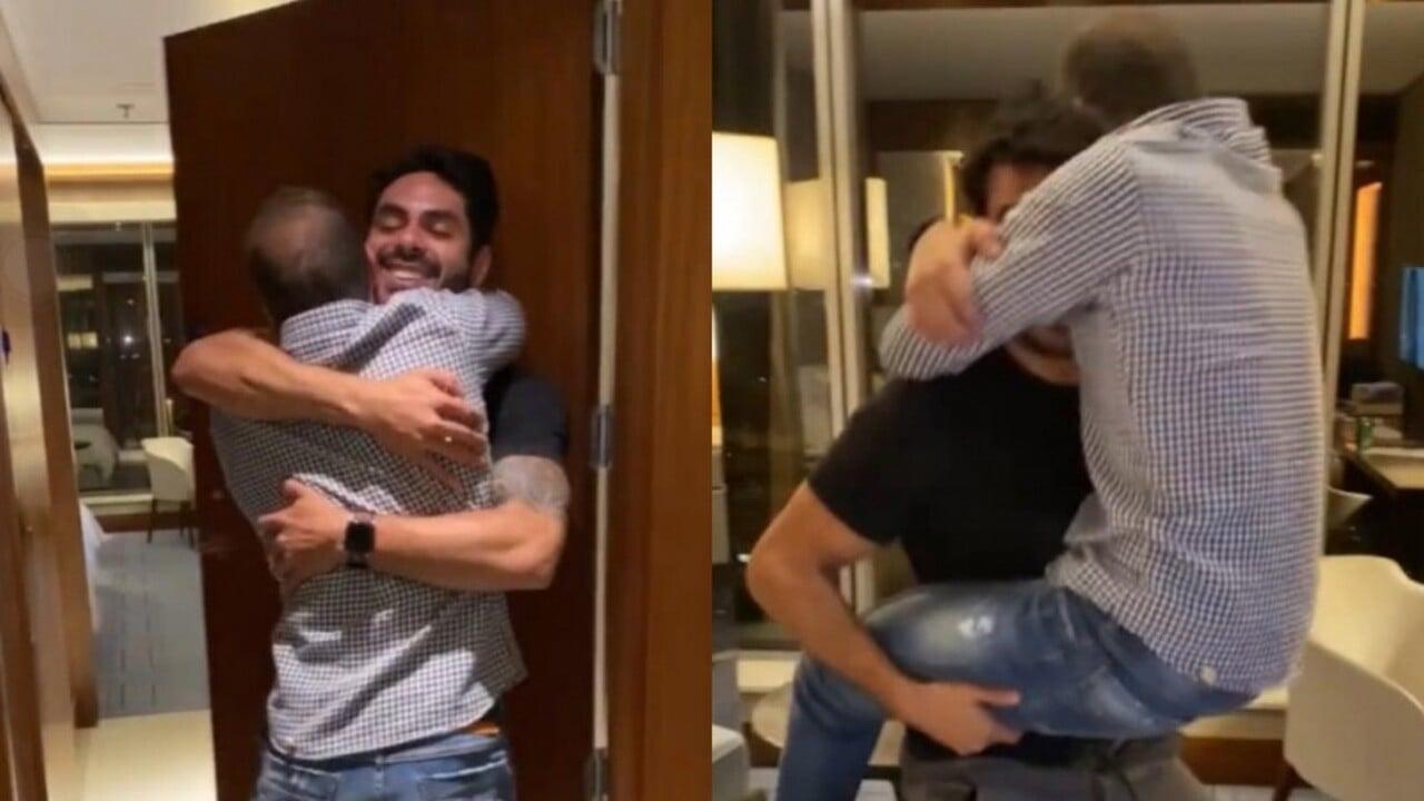 Caio e Rodolffo se reencontram após eliminação do BBB21