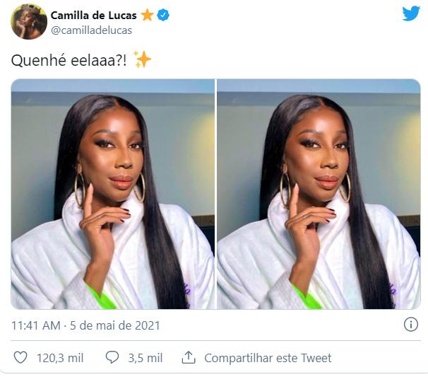 Camilla de Lucas com novo visual - Crédito: Reprodução / Instagram