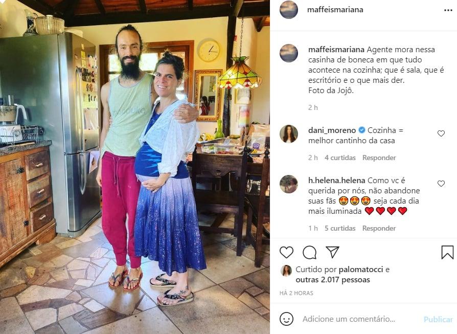 Mariana Maffei, filha de Ana Maria Braga, mostra a decoração de sua casa - Crédito: Reprodução / Instagram