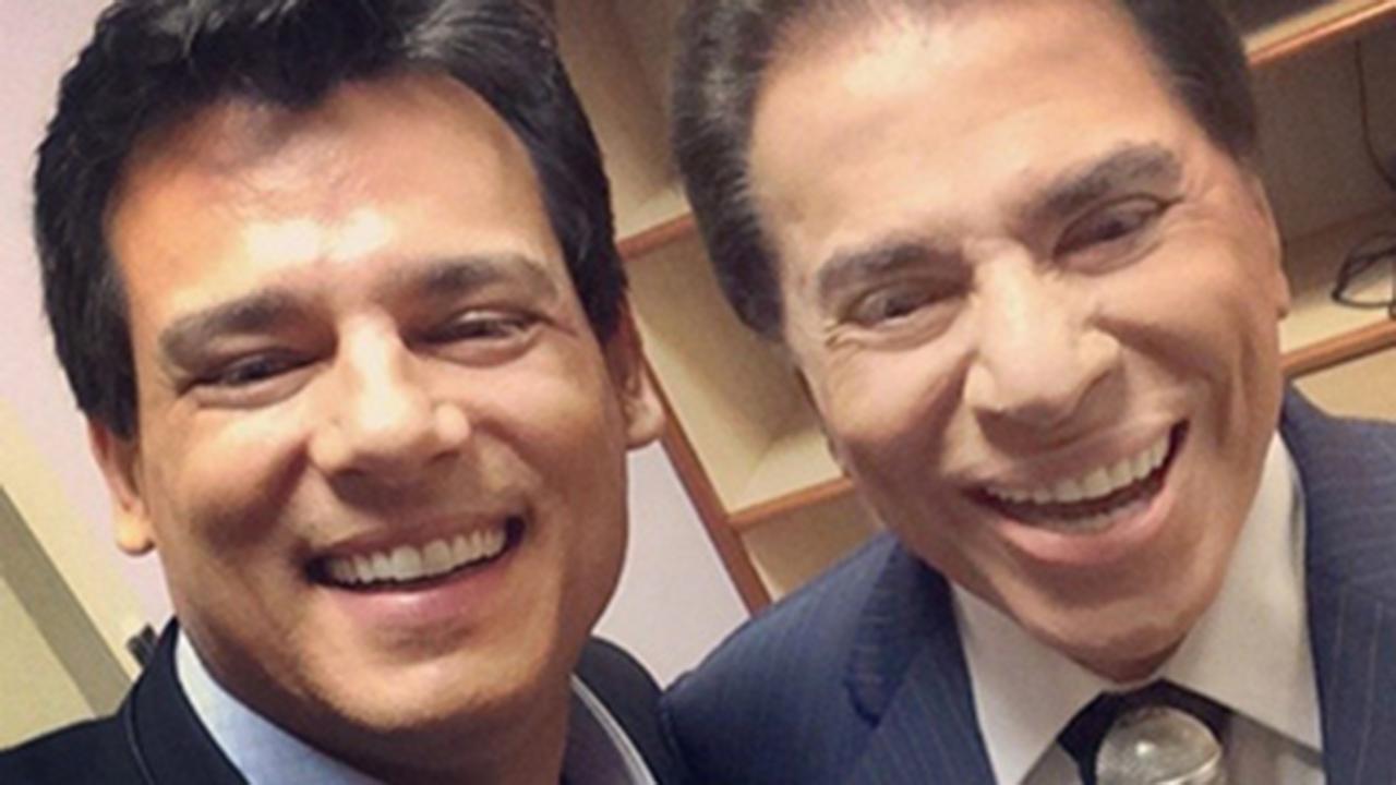 Celso Portiolli e Silvio Santos - Crédito: Reprodução / Instagram