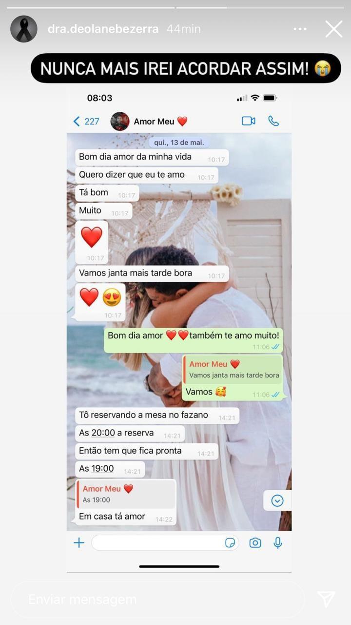 Viúva de MC Kevin mostra troca de mensagens antes da morte dele - Crédito: Reprodução / Instagram