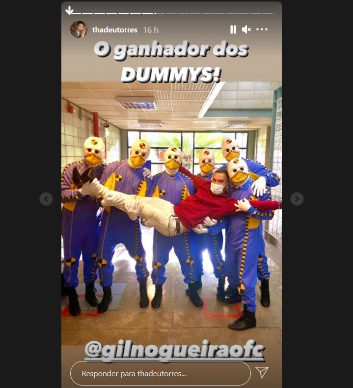 Dummies do BBB21 com Gilberto - Crédito: Reprodução / Instagram