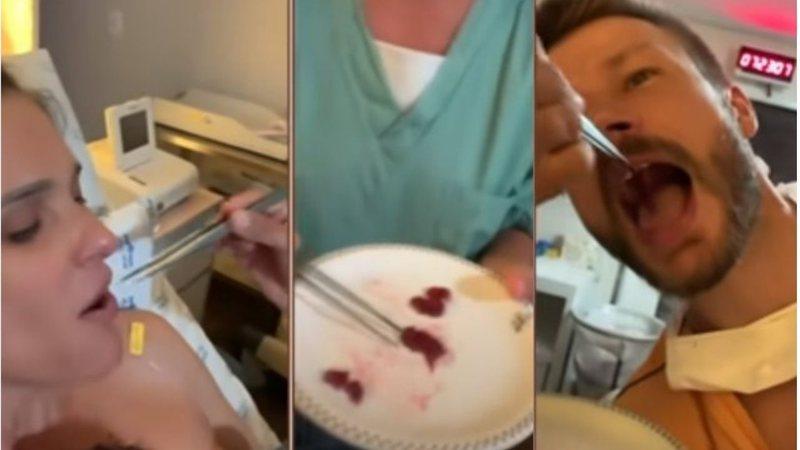 Fernanda Lima e Rodrigo Hilbert comem a placenta após o parto - Crédito: Reprodução / GNT