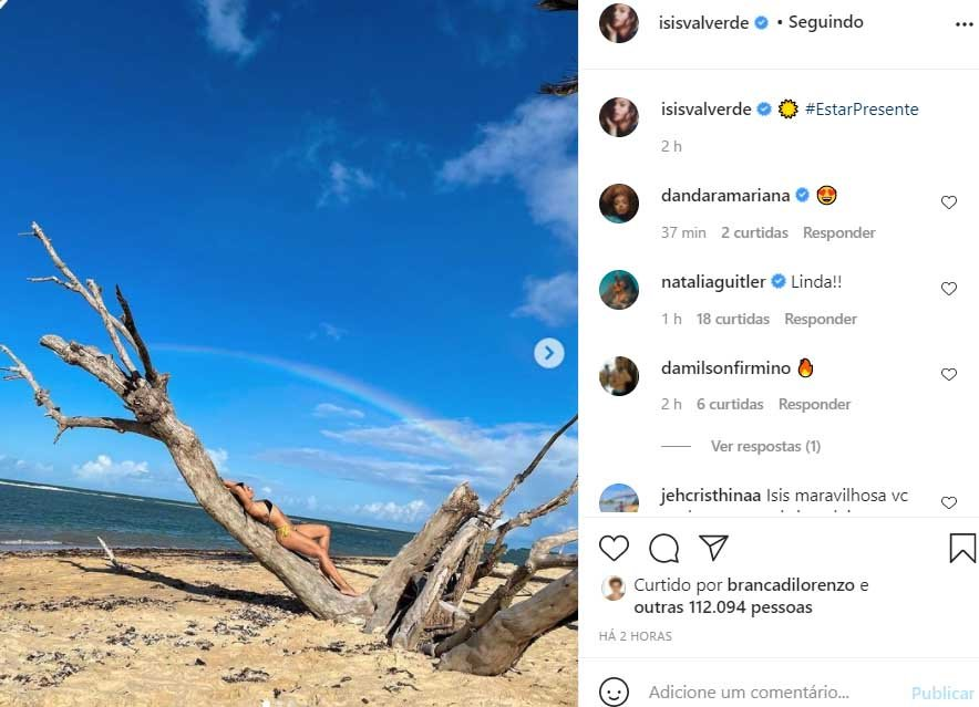Isis Valverde aparece de biquíni nas redes sociais - Crédito: Reprodução / Instagram