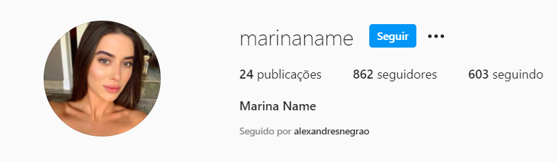 Marina Name - Crédito: Reprodução / Instagram